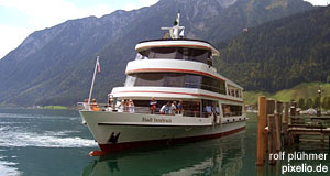 'The 'Stadt Innsbruck', the most important ship on the Achensee' from the web at 'http://www.tourmycountry.com/austria/../graphics/achensee.jpg'
