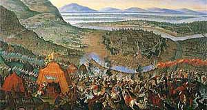 'Finest Hour: Imperial and Polish troops liberate Vienna from the Second Siege of the Turkish Empire in 1683' from the web at 'http://www.tourmycountry.com/austria/../graphics/schlacht-kahlenberg.jpg'