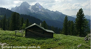 Mountains & huts: The typical scenery of the Bregenzerwald Forest