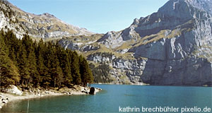 An Alpine mountain lake in Tyrol