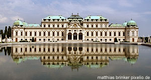 Schloss Belvedere Palace (Vienna) as seen from the back
