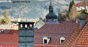 The roofs of the Medieval city of Friesach: One of Carinthia's most popular sights