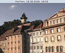 The Uhrturm is the most famous sight of Styria - brought to you by this Graz Webcam