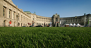 The Hofburg is a strange palace, its construction took place between the Middle Ages and the early 20th century