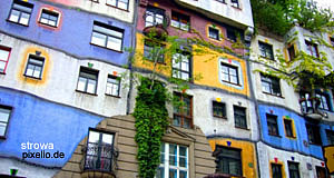 The Hundertwasserhaus in the third district Landstraße