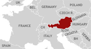map of europe austria Austria Map : Travel Maps of Austria