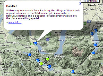 A snapshot from my Austria map: Combining TMyC knowledge with Google Map information