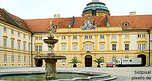 The Monastery of Melk Abbey in the Wachau, a Danube river valley West of Vienna