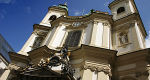 The Peterskirche was designed by Lukas von Hildebrandt and ranks among Vienna's most important Baroque churches
