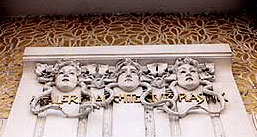 Jugendstil or Art Nouveau ornaments on the Secession Museum in Vienna