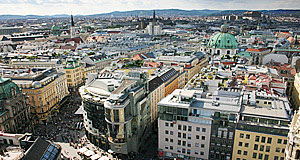 Vienna, Vienna - as seen from the tower of Stephansdom cathedral, a stunning view