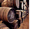 The barrels actually contain wine. But they COULD contain beer, too.