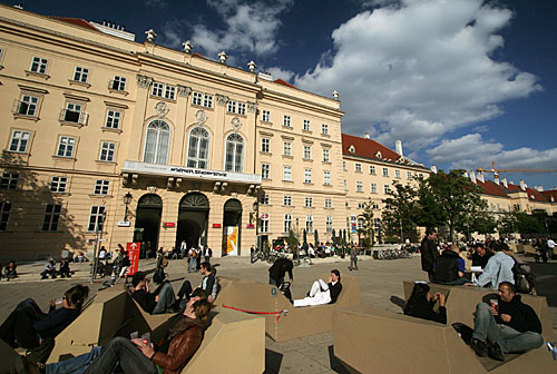 The MuseumsQuartier is Vienna's new Museum District