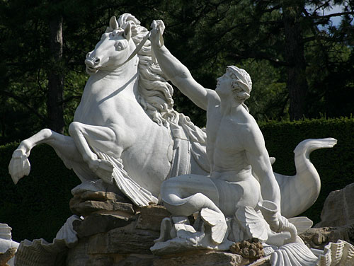 The Baroque Neptunbrunnen in the parks of Schloss Schönbrunn
